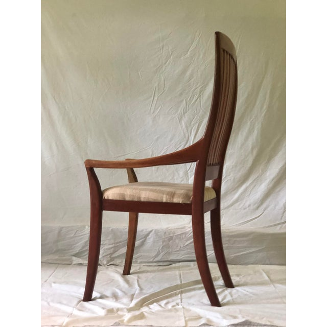 Brown Robert R. Jamieson Vintage Handcrafted Arm Chair For Sale - Image 8 of 13