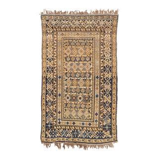 Antique Kuba Caucasian Floor Rug - 4'x6' For Sale