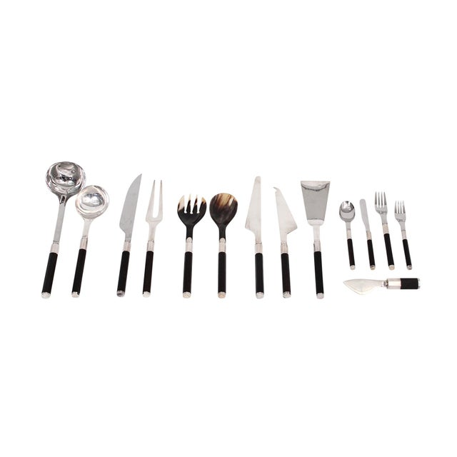 Mid-Century Modern Afra and Tobia Scarpa for San Lorenzo Studio Silver Flatware - 14 Pc. Set For Sale - Image 3 of 13