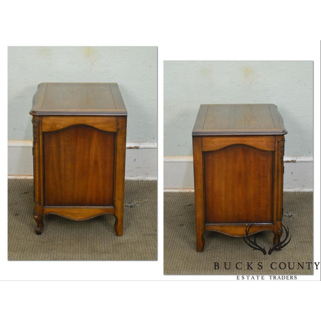 *STORE ITEM #: 18428 Kindel Beauclair French Louis XV Style Vintage Fruitwood Nightstand AGE / ORIGIN: Approx. 50 years,...