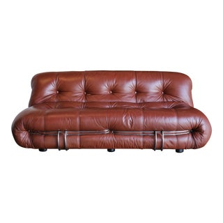 Mid-Century Modern Afra & Tobia Scarpa for Cassina Soriana Settee For Sale