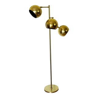 1950's Brass Triple Eyeball Floor Lamp For Sale