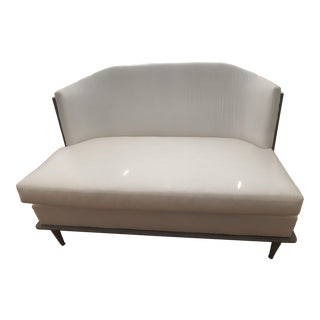 Global Views Erwin Cross Back Settee - Unupholstered