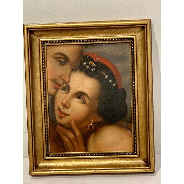 19th Century Near Pair of Old Master Romantic Portraits For Sale - Image 5 of 10