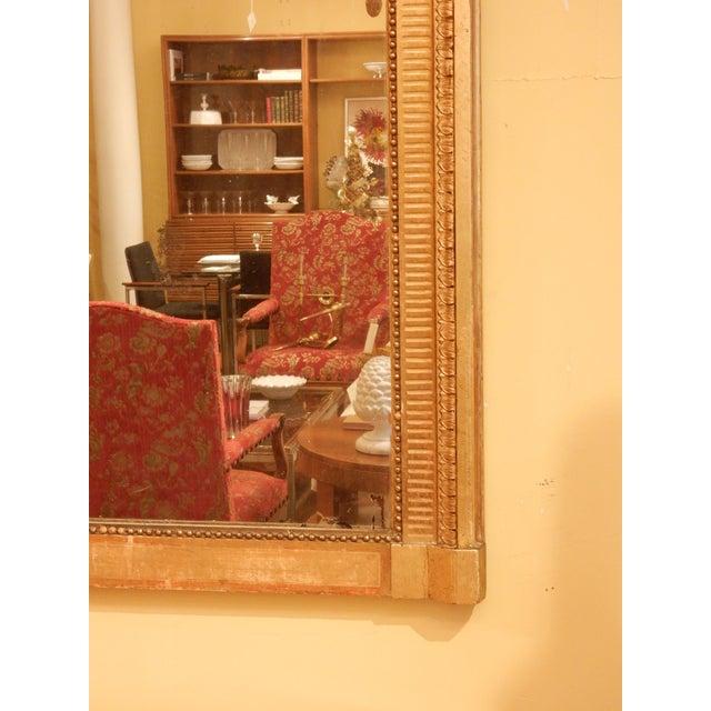 Louis XVI 19th Century Louis XVI Gold Gilt Mirror For Sale - Image 3 of 8