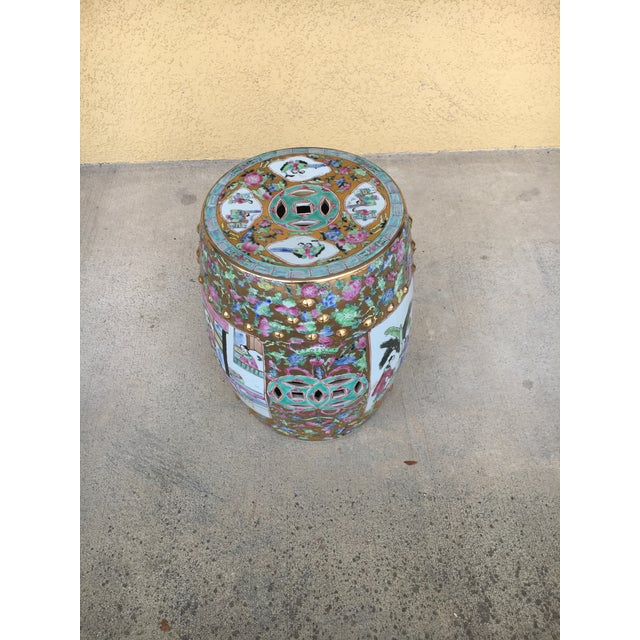 Ceramic Contemporary Chinoiserie Garden Stool For Sale - Image 7 of 12