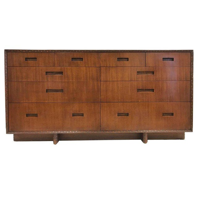 Wood Taliesin Dresser by Frank Lloyd Wright For Sale - Image 7 of 7