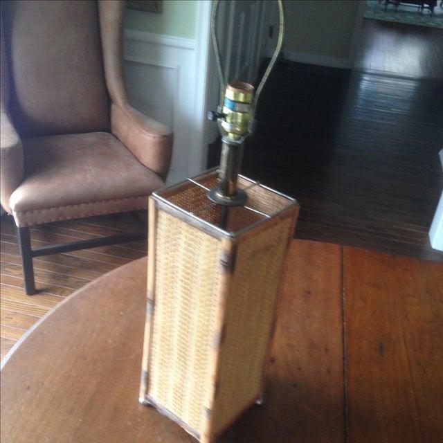 Vintage Rattan Table Lamp - Image 4 of 11