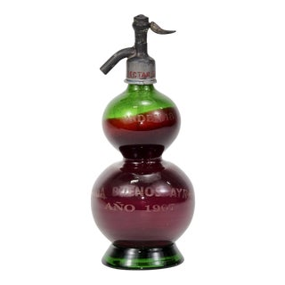 Antique Buenos Ayres Soda Siphon Glass Bottle