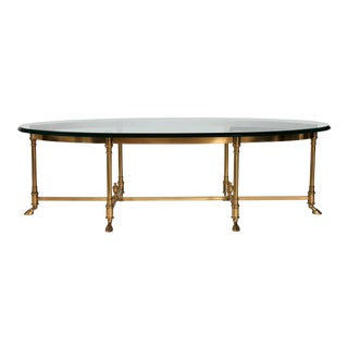 LaBarge Brass & Glass Coffee Table For Sale