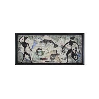 Arizona Artist Lee Porzio Mixed Media Hand Painted Tiles For Sale