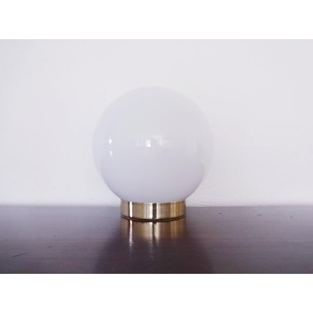 1970s Mid-Century Modern Glass Orb Lamp For Sale In Saint Louis - Image 6 of 6
