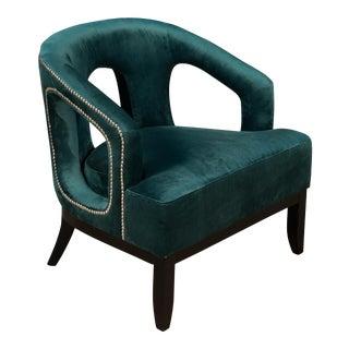 Sarreid Luppy Chair, Green Velvet For Sale