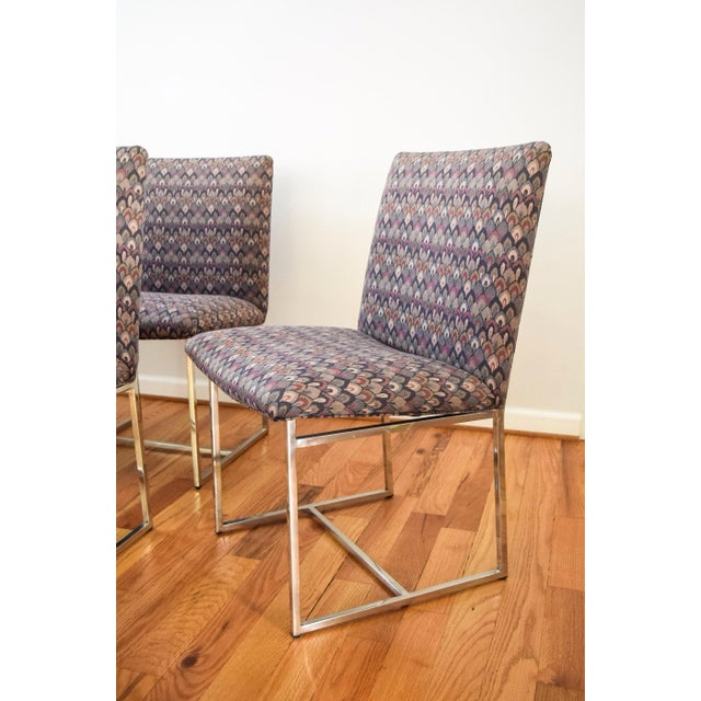 Mid-Century Milo Baughman Style Dining Chairs - Set of 6 - Image 8 of 11