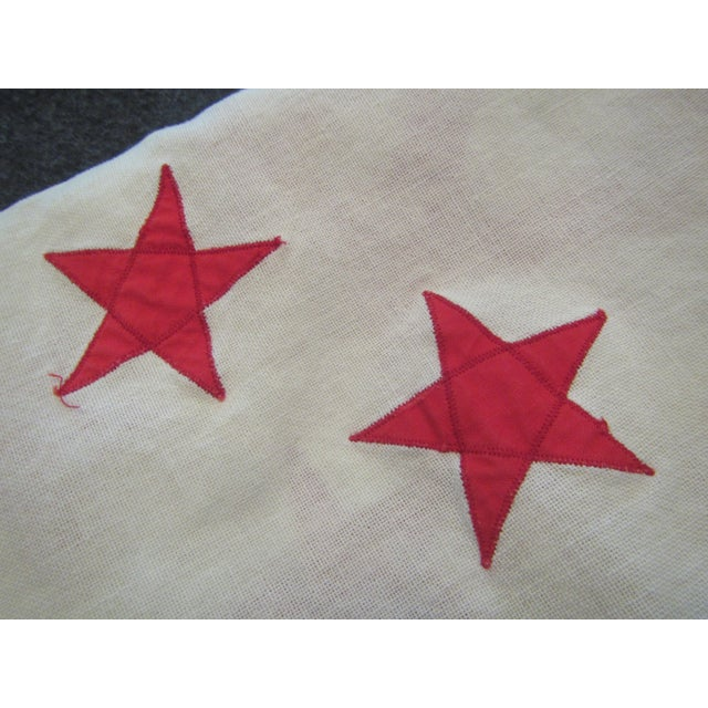 Vintage Rear Commodore Anchor Star Yachting Flag For Sale - Image 6 of 6