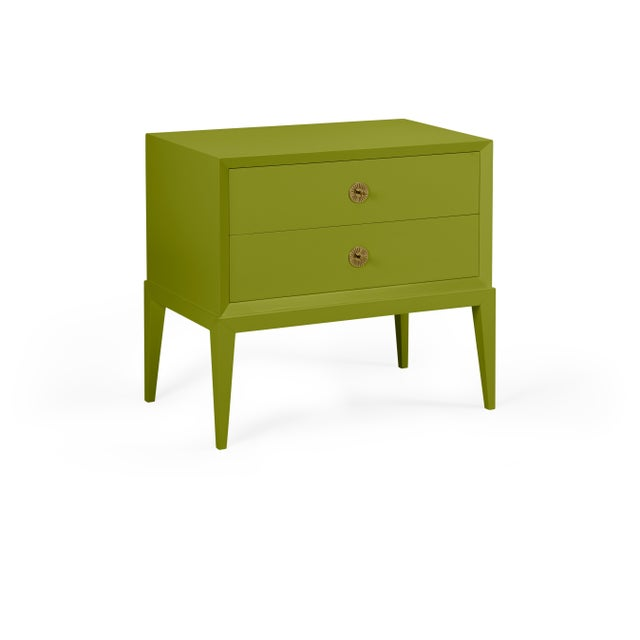 Transitional Casa Cosima Hayes 2-Drawer Side Chest, Dark Celery For Sale - Image 3 of 3