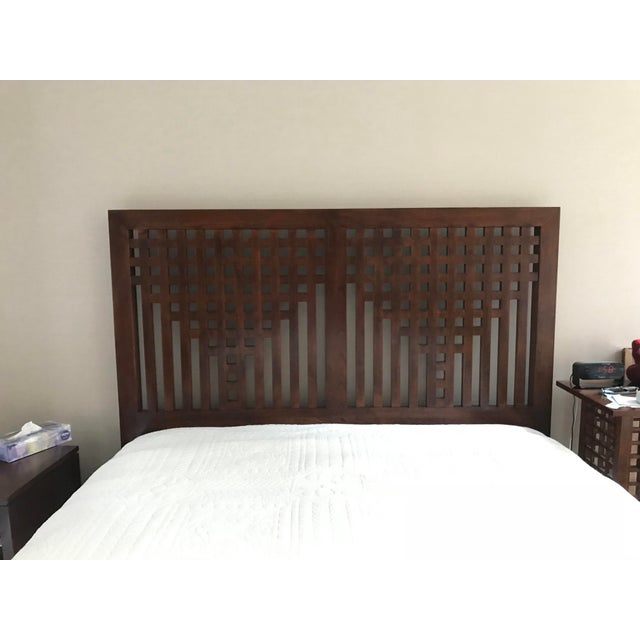 I had no intention of ever getting rid of this beautifully made bed with a distinctive wild black cherry lattice-work...