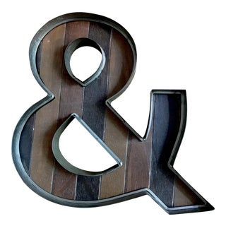Wood & Metal Ampersand Sign For Sale