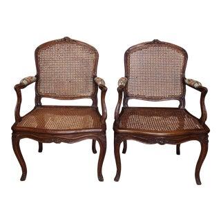 Pair of Louis XV Fauteuils For Sale