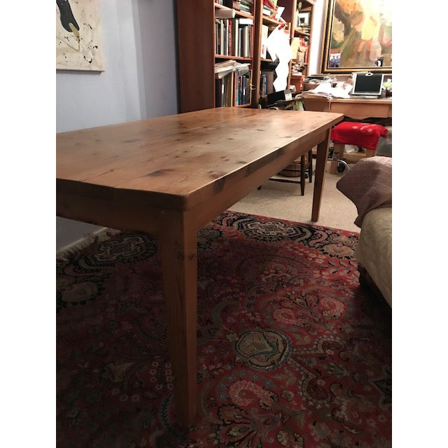 Antique Pine Farm French Table For Sale In Austin - Image 6 of 13