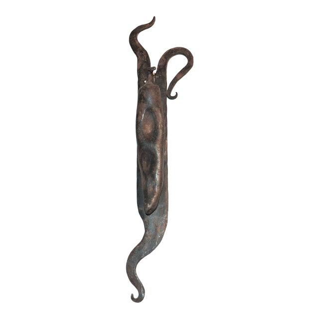 Vintage Artful Chili Pepper Iron Door Knocker - Image 1 of 11