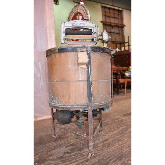 Antique Easy Primitive Copper Wash Tub Wringer Washing Machine For Sale - Image 5 of 7