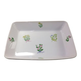 "1970s Traditional Shafford ""Herb Bouquet"" Baking/Serving Dish For Sale"