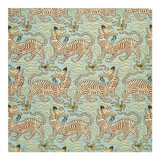 Clarence House Tibet Print Fabric in Powder - 4 Yards For Sale