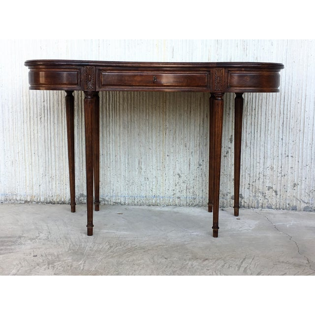 Coromandel and Marquetry Inlaid Victorian Period Kidney Lady Desk For Sale - Image 9 of 13