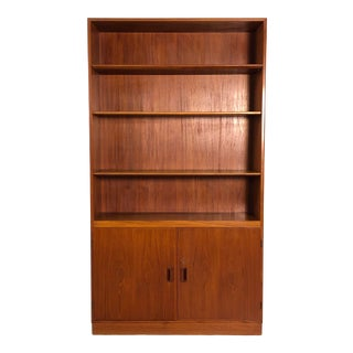 Danish Teak Cabinet Bookcase by Borge Mogensen for Povl Dinesen Furniture Co For Sale
