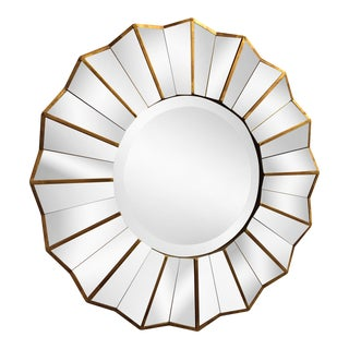 Faceted Sunburst Wall Mirror