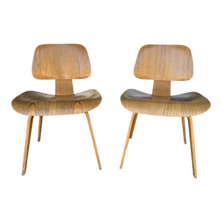 Vintage Mid Century Eames DCW's Chairs- A Pair For Sale
