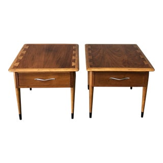 1960s Scandinavian Modern Lane Furniture Side Tables - a Pair For Sale
