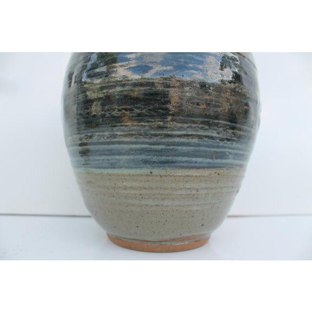 Vintage Green & Blue Glaze Bud Vase - Image 7 of 8
