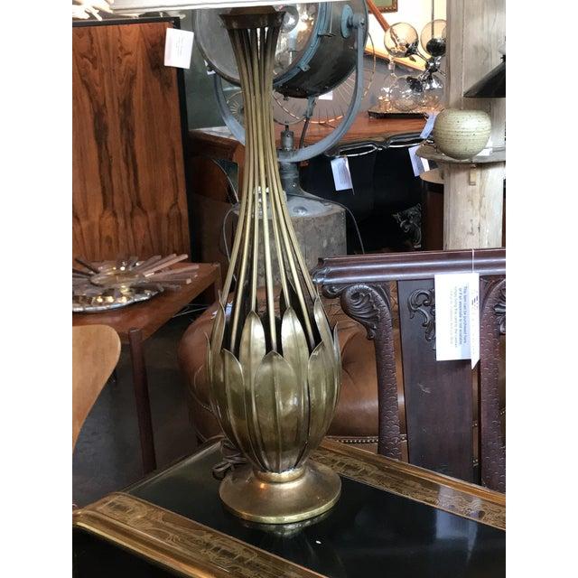 Brutalist Hans Grag Bronze Table Lamp For Sale - Image 3 of 5
