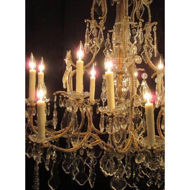 Superb grand 18th century italian beaded piedmont crystal grand 18th century italian beaded piedmont crystal chandelier image 3 of 5 aloadofball Gallery