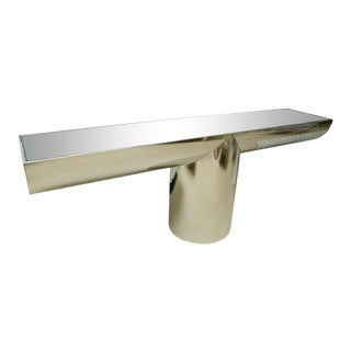 Space Age J. Wade Beam for Brueton Stainless Steel T-Console For Sale