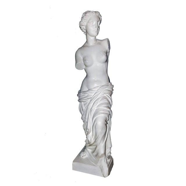 Stone Alabaster Venus De Milo Statue For Sale - Image 7 of 7