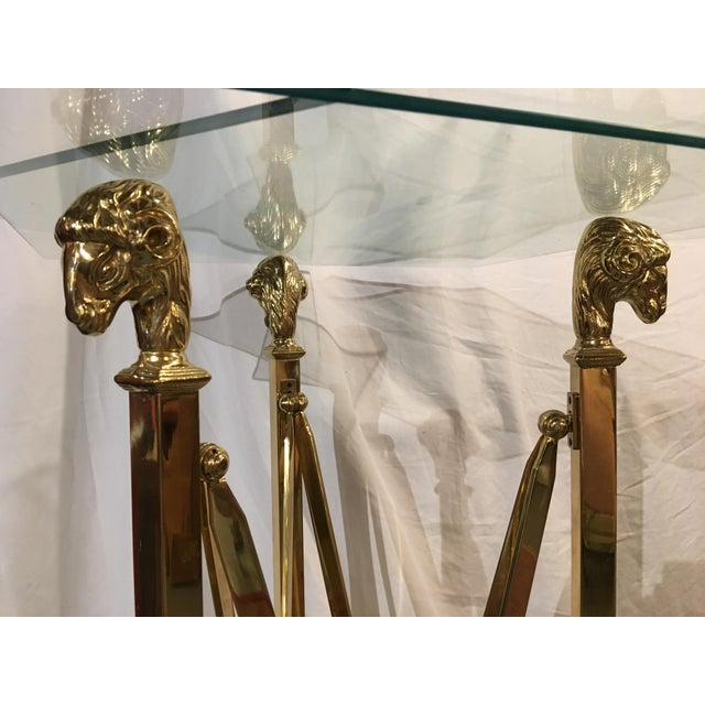 Brass Stands in the Maison Jansen Style With Sheep's Heads - a Pair For Sale - Image 11 of 12