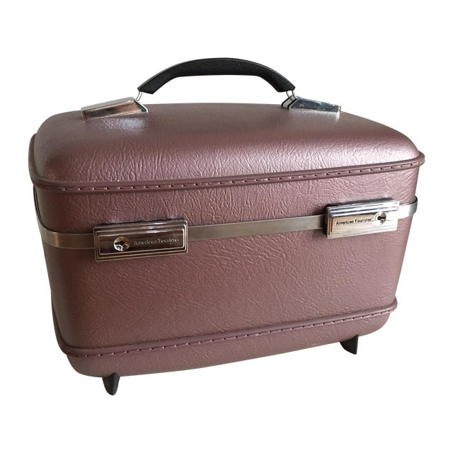Pearlescent Purple American Tourister Train Case - Image 1 of 6