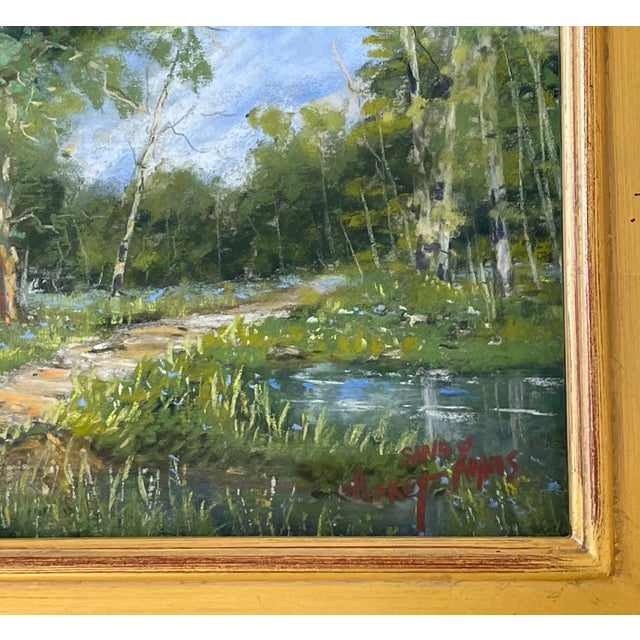 Sandy Askey Adams Original Pastel Landscape Painting - Waters Edge For Sale - Image 4 of 7