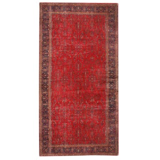 Antique Oversize Persian Kashan Carpet For Sale