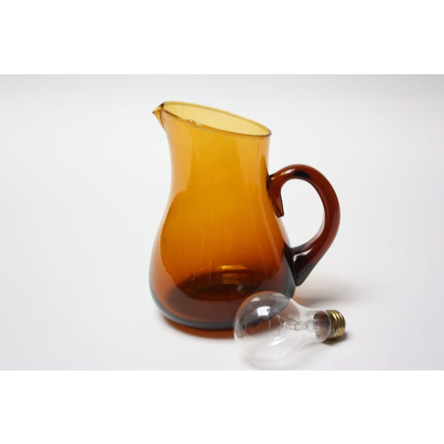 Mid-Century Modern Mid Century American Modern Brown Glass Pitcher / Creamer by Pilgrim For Sale - Image 3 of 8