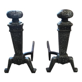 Cahill 84 Fireplace Andirons - a Pair