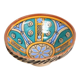 19th Century Moroccan Handcrafted Couscous Bowl For Sale
