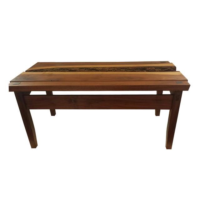 Custom Walnut Coffee Table - Image 1 of 4