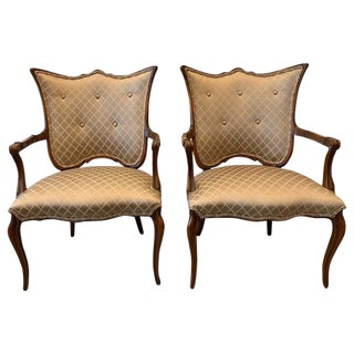 Fruit Wood Fan Back Armchairs- A Pair For Sale
