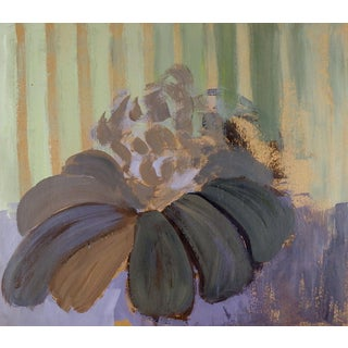 Impressionist Purple Cone Flower Painting For Sale