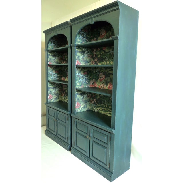 Ethan Allen Boho Chic Vintage Bookcases For Sale - Image 4 of 4