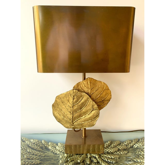 Brass Pair of Lamps Guadeloupe by Maison Charles, Bronze, 1970s, France For Sale - Image 7 of 13